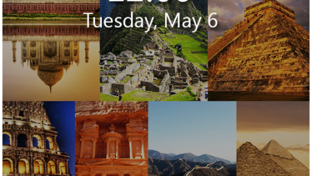 Seven Wonders Lock Screen