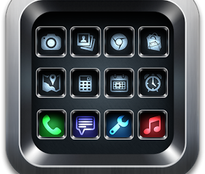 Black iPhone Launcher Theme 3D